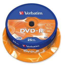 Pk25 verbatim dvd-r 4.7gb 16x spindle